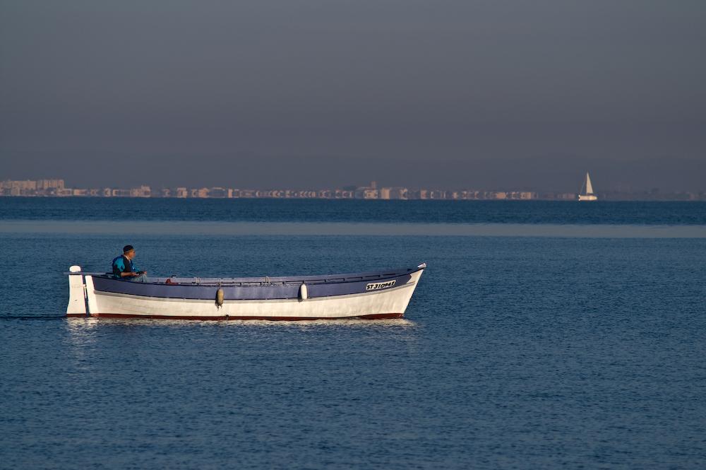 ...oder auf dem Meer unterwegs.